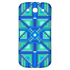 Grid Geometric Pattern Colorful Samsung Galaxy S3 S III Classic Hardshell Back Case