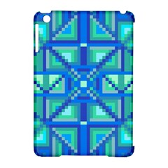 Grid Geometric Pattern Colorful Apple Ipad Mini Hardshell Case (compatible With Smart Cover)
