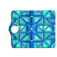 Grid Geometric Pattern Colorful Kindle Fire Hdx 8 9  Flip 360 Case