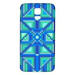 Grid Geometric Pattern Colorful Samsung Galaxy S5 Back Case (white)