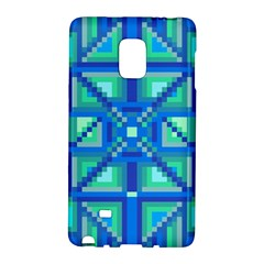 Grid Geometric Pattern Colorful Galaxy Note Edge