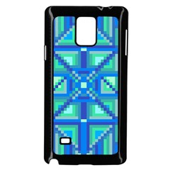 Grid Geometric Pattern Colorful Samsung Galaxy Note 4 Case (Black)
