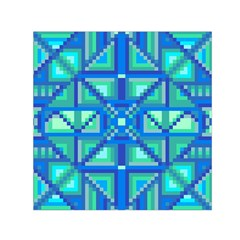 Grid Geometric Pattern Colorful Small Satin Scarf (square)