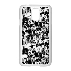 Elvis Presley pattern Samsung Galaxy S5 Case (White)