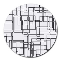 Structure Pattern Network Round Mousepads