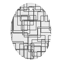 Structure Pattern Network Ornament (Oval)