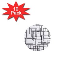 Structure Pattern Network 1  Mini Magnet (10 Pack)