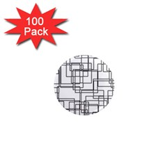 Structure Pattern Network 1  Mini Magnets (100 pack)