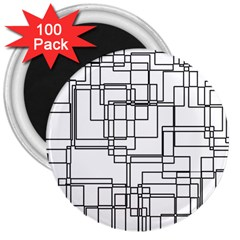 Structure Pattern Network 3  Magnets (100 pack)