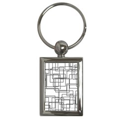 Structure Pattern Network Key Chains (Rectangle)