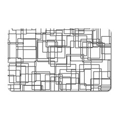 Structure Pattern Network Magnet (rectangular)