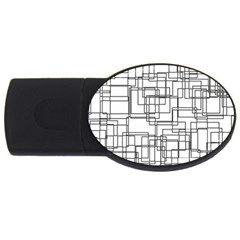 Structure Pattern Network Usb Flash Drive Oval (2 Gb)