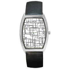 Structure Pattern Network Barrel Style Metal Watch
