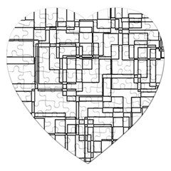 Structure Pattern Network Jigsaw Puzzle (Heart)