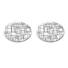 Structure Pattern Network Cufflinks (oval)