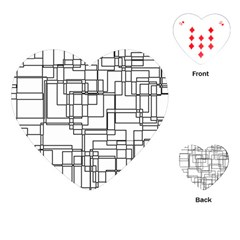 Structure Pattern Network Playing Cards (heart)