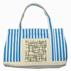 Structure Pattern Network Striped Blue Tote Bag