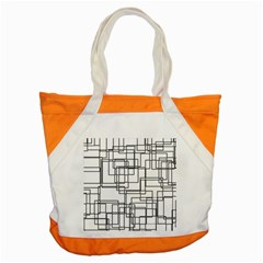 Structure Pattern Network Accent Tote Bag