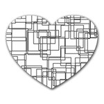Structure Pattern Network Heart Mousepads Front