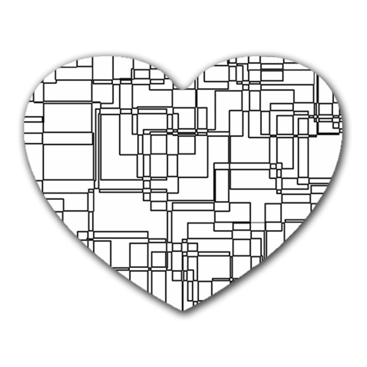 Structure Pattern Network Heart Mousepads