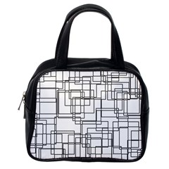 Structure Pattern Network Classic Handbags (one Side)