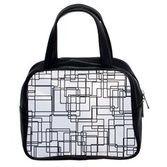 Structure Pattern Network Classic Handbags (2 Sides)