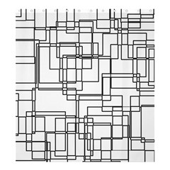 Structure Pattern Network Shower Curtain 66  X 72  (large)