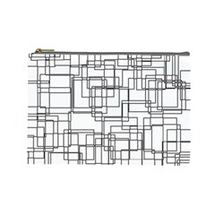 Structure Pattern Network Cosmetic Bag (large)