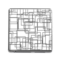 Structure Pattern Network Memory Card Reader (Square)