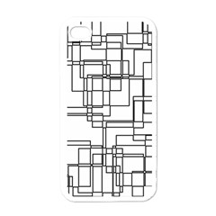 Structure Pattern Network Apple iPhone 4 Case (White)