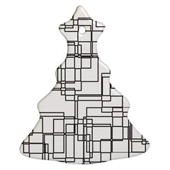 Structure Pattern Network Christmas Tree Ornament (Two Sides)