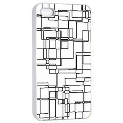 Structure Pattern Network Apple Iphone 4/4s Seamless Case (white)