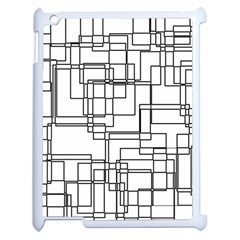 Structure Pattern Network Apple iPad 2 Case (White)