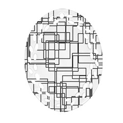 Structure Pattern Network Ornament (Oval Filigree)
