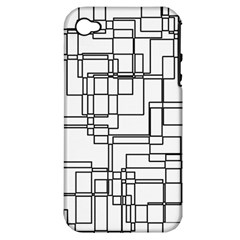 Structure Pattern Network Apple iPhone 4/4S Hardshell Case (PC+Silicone)