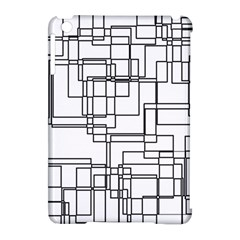 Structure Pattern Network Apple Ipad Mini Hardshell Case (compatible With Smart Cover)