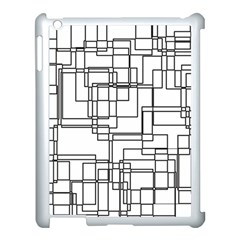 Structure Pattern Network Apple Ipad 3/4 Case (white)