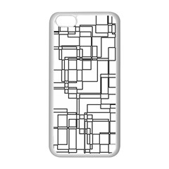 Structure Pattern Network Apple Iphone 5c Seamless Case (white)