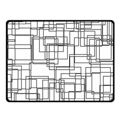 Structure Pattern Network Double Sided Fleece Blanket (Small)