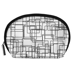 Structure Pattern Network Accessory Pouches (large)