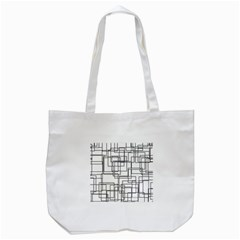 Structure Pattern Network Tote Bag (White)