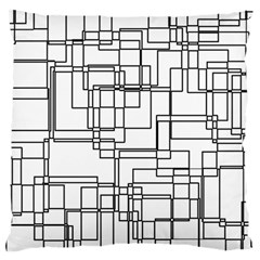 Structure Pattern Network Large Flano Cushion Case (one Side)