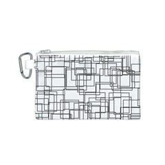 Structure Pattern Network Canvas Cosmetic Bag (s)