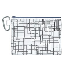 Structure Pattern Network Canvas Cosmetic Bag (l)