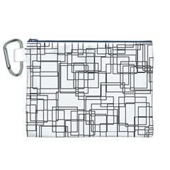 Structure Pattern Network Canvas Cosmetic Bag (xl)