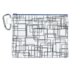 Structure Pattern Network Canvas Cosmetic Bag (XXL)
