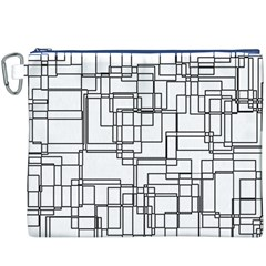 Structure Pattern Network Canvas Cosmetic Bag (xxxl)