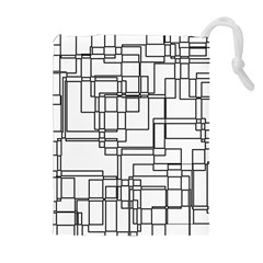 Structure Pattern Network Drawstring Pouches (Extra Large)