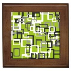 Pattern Abstract Form Four Corner Framed Tiles