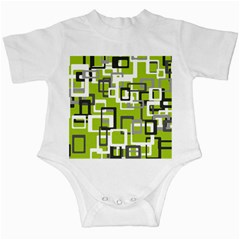 Pattern Abstract Form Four Corner Infant Creepers